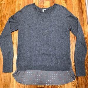 NORDSTROM Halogen Twofer Knit Sweater with Trim
